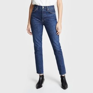 nwt agolde  remy high rise straight leg jeans 24